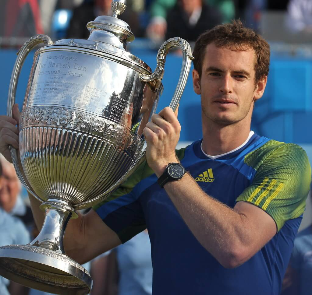 Andy Murray With The Queens Cup
