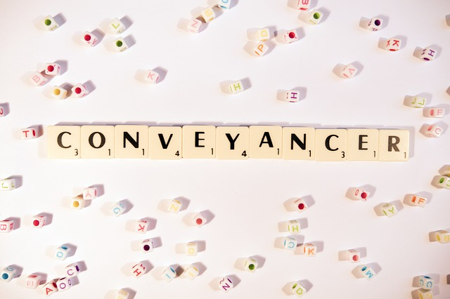 the word conveyancer written with scrabble letters