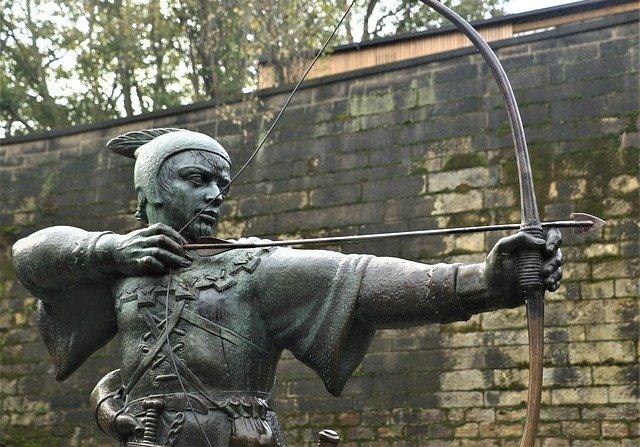 robin hood bronze statue