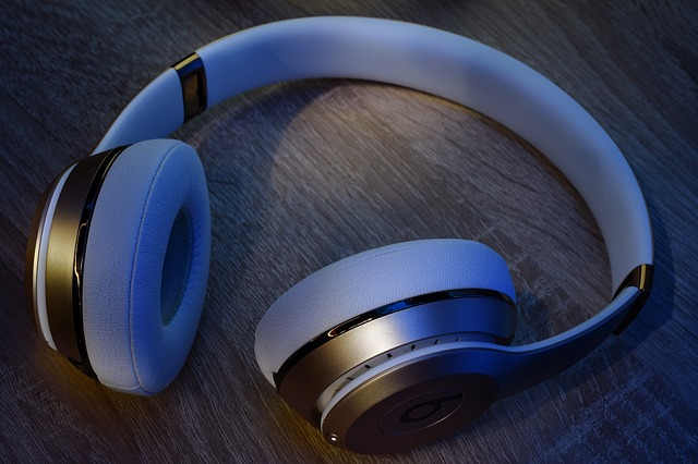 wireless headphones laying on a table